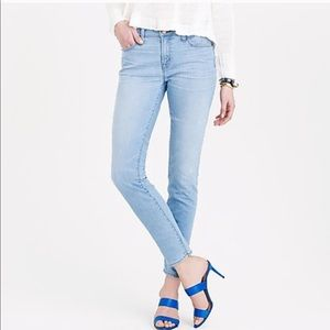 J. Crew Stretch Toothpick Jeans in Durant Wash 29